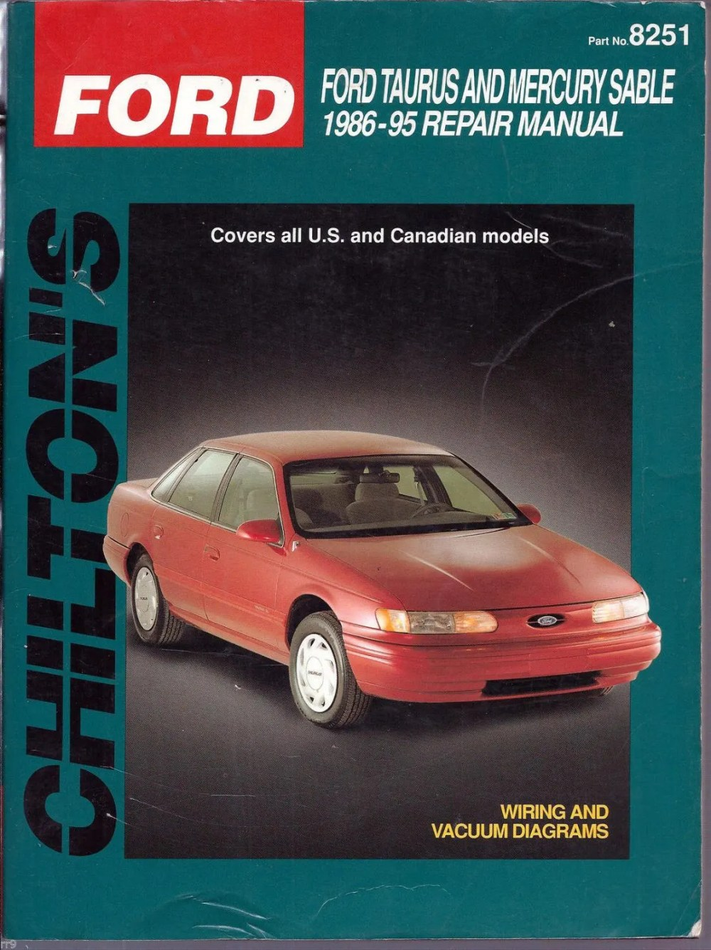 medium resolution of chilton s 1986 95 ford taurus mercury sable wiring and vacuum diagrams manual