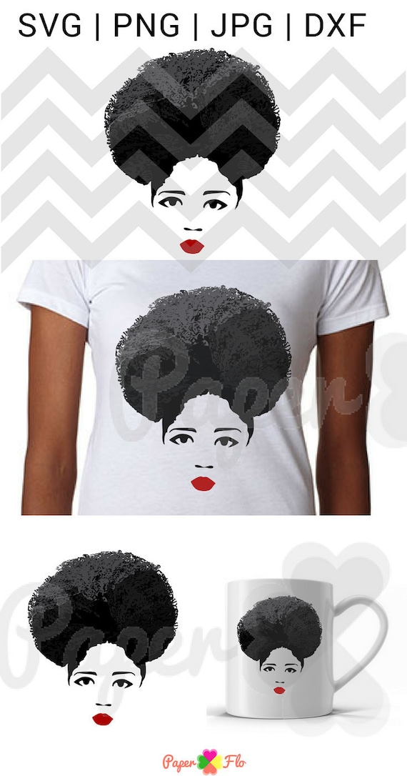 Afro Woman Svg Natural Gray Hair Svg Afro Birthday Queen Svg Etsy