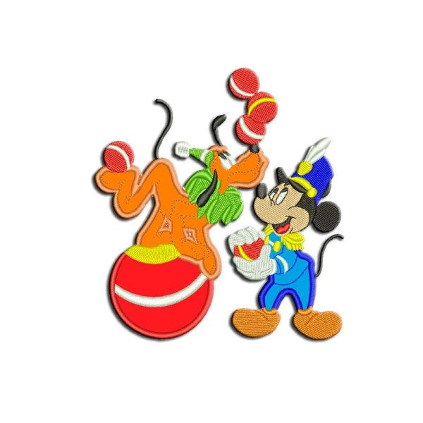 Mickey Mouse Embroidery Design Pluto Machine