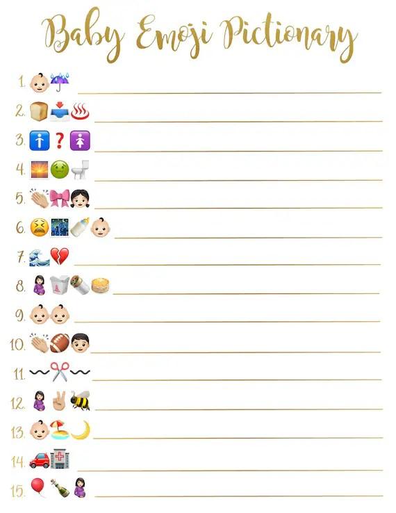 Baby Shower Emoji Pictionary : shower, emoji, pictionary, Shower, Emoji, Pictionary