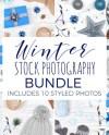 Winter Stock Photography Bundle Christmas Flat Lay Photos Etsy