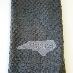 Gray Kitchen Towels Cabinet Storage Organizers Towel Etsy Embroidered In The Nc State Design