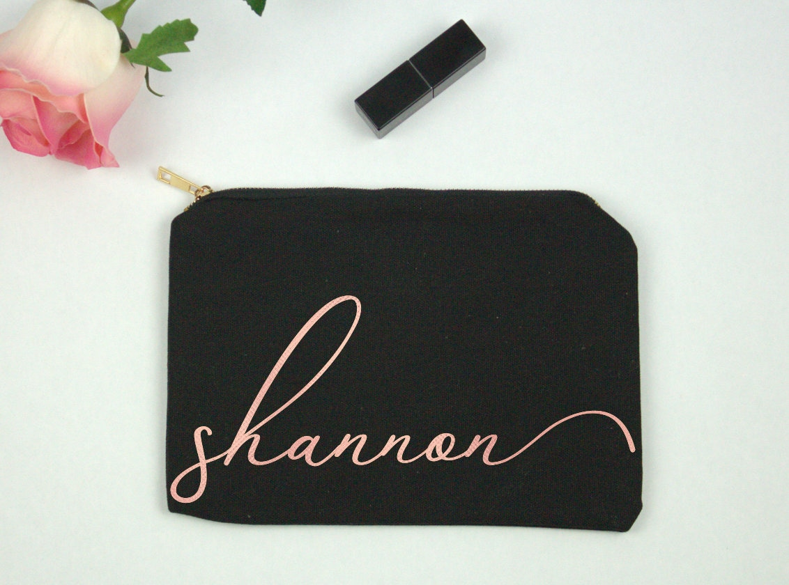 Personalized Makeup Bag Cosmetic Bag Gift for Her Gift for image 4