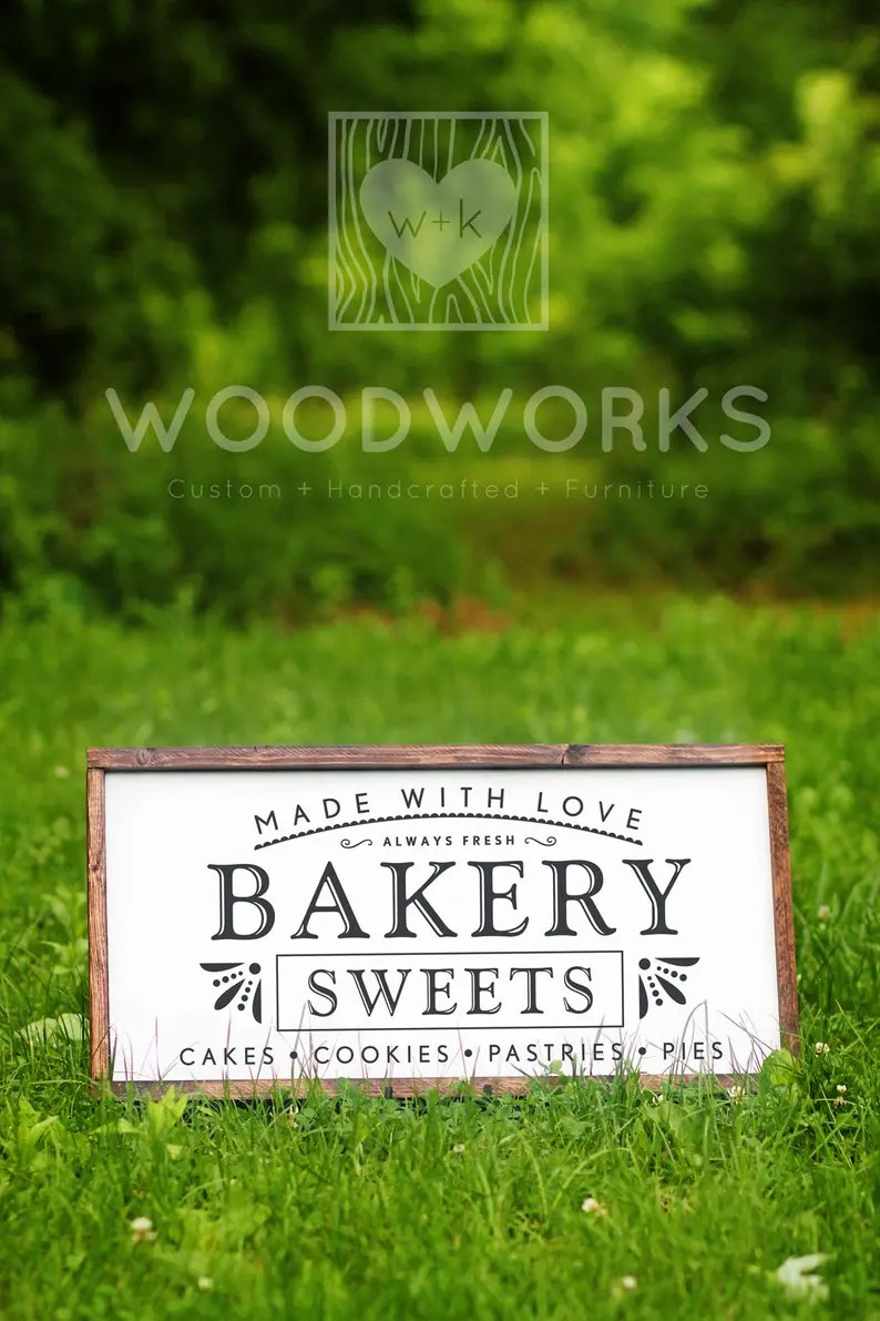 Download SVG / DXF Made With Love Bakery Sweets Always   Etsy