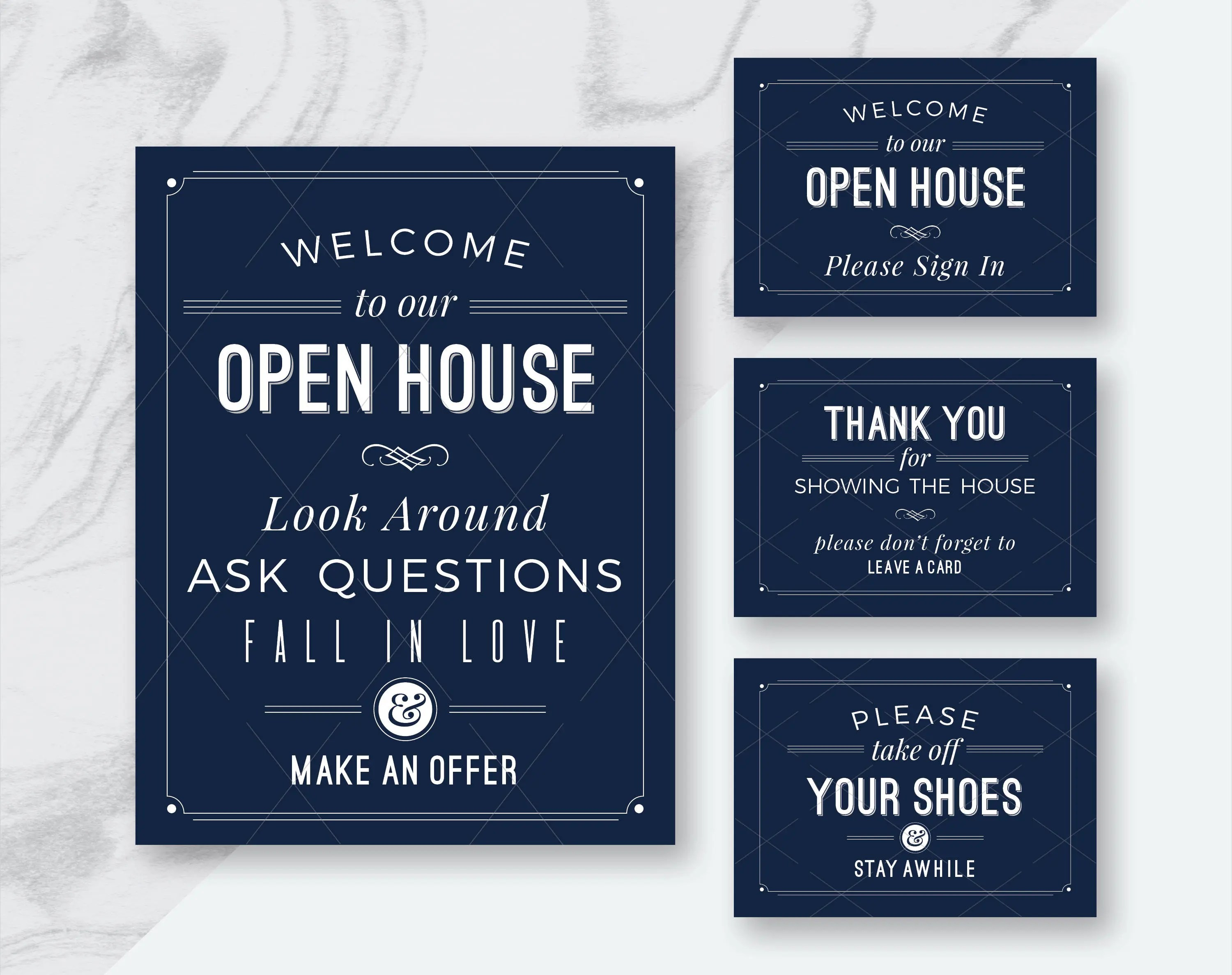 Real Estate Open House Signs Welcome To Open House Please