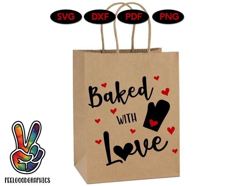 Download Baked with Love SVG Valentines svg Love script svg love ...