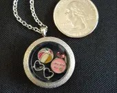 Beach-theme Floating Locket Necklace