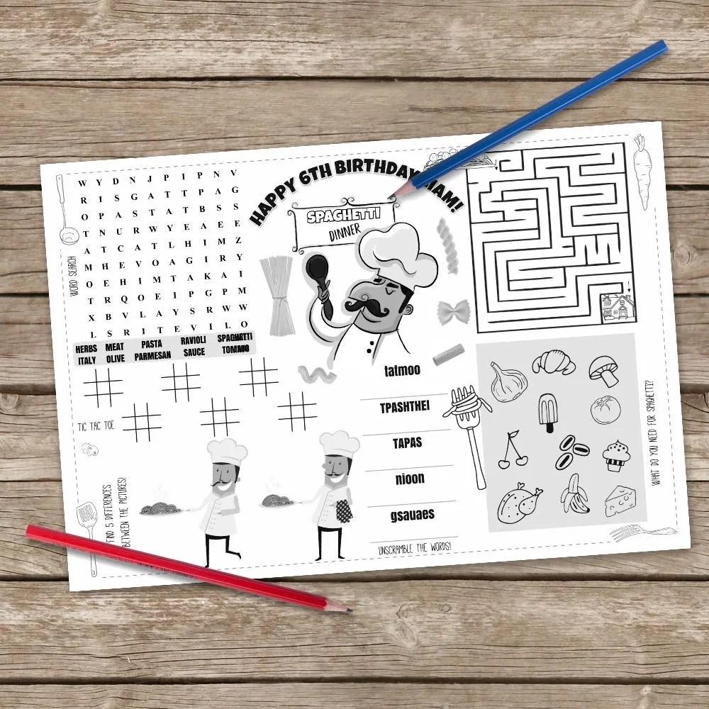Tischset Kinder Vorlage - The Homey Design