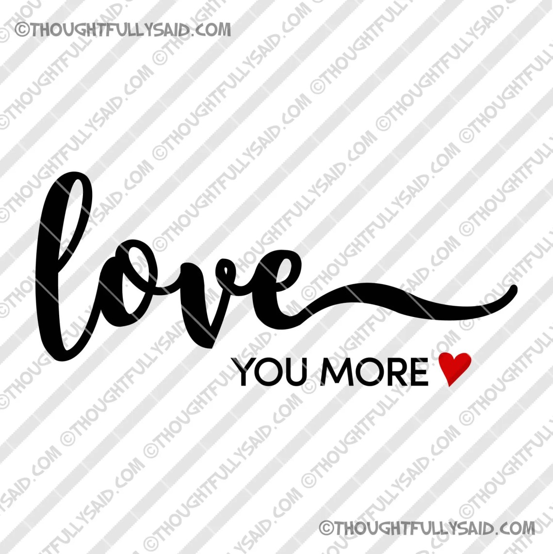 Download Love You More romantic design SVG png dxf files for die   Etsy