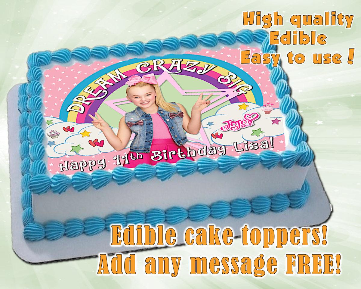 Jojo Siwa Inspired Cake Toppers Edible Print Sugar Sheet