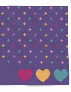 Image also   purple party crochet baby blanket pixel chart graphghan etsy rh