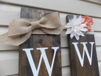 Large Wood Vertical Outdoor Welcome Sign Front Door Front ...