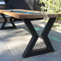 Kitchen Table Legs Majestic Cabinets Etsy Hour Glass Metal Diy Bench Coffee