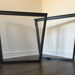 Kitchen Table Legs Home Depot Canada Island Metal Etsy Trapezoid Diy Dining Square Coffee