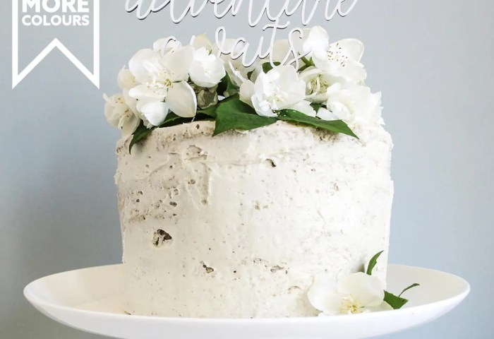 Adventure Awaits Baby Shower Cake Topper In White Baby Etsy