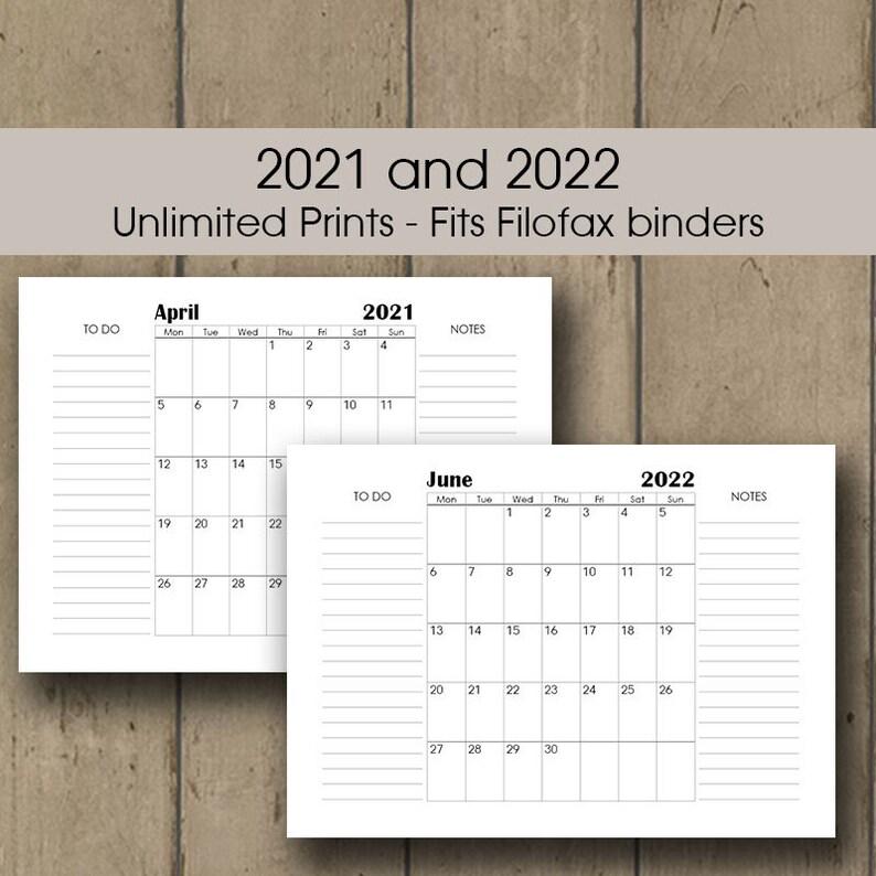 Printable Desk Calendar 2021 A3 Wall Calendar 2021 2022 | Etsy