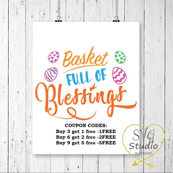 Download Basket Full of Blessings SVG/DXF Cutting File Cameo   Etsy