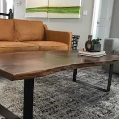 Modern Table For Living Room Furniture Sofa Chair Walnut Coffee Live Edge Egde Etsy Black Steel Legs Wood