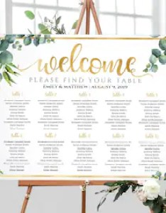 Wedding seating chart table plan template find your seat welcome sign eucalyptus greenery watercolor also etsy rh