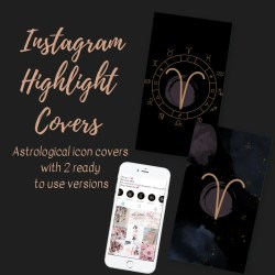 Instagram Story Highlight Icons Black Watercolor Etsy