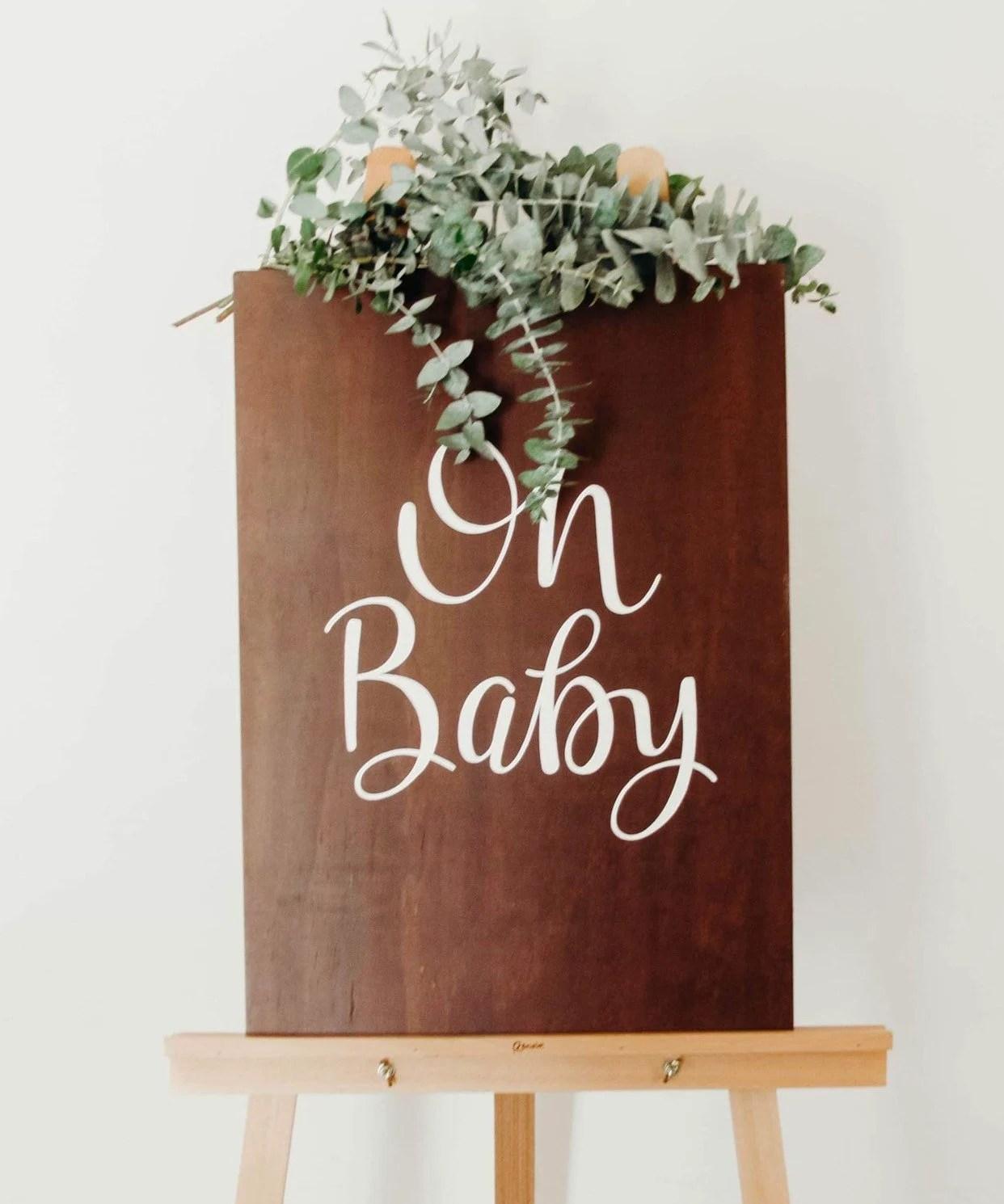 Wooden Baby Shower Sign : wooden, shower, Wooden, Shower