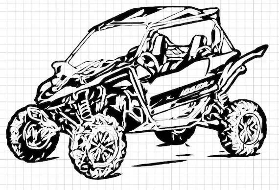 Polaris Ranger Utv Drawings Sketch Coloring Page