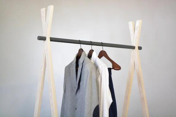 wood and metal rackclothes rackgarment rackdress up storage etsy