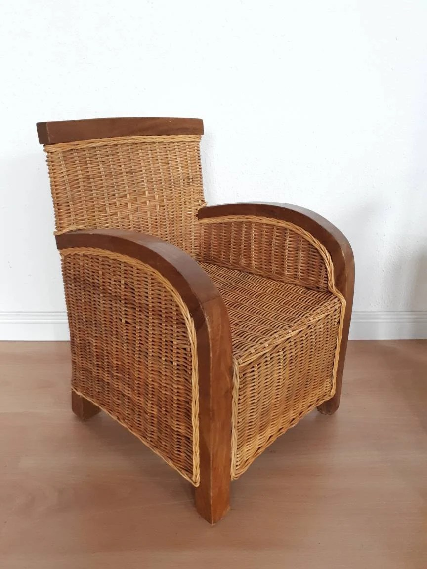 Vintage Rattan Chair Vintage Rattan Chair For Kids With Teakwood