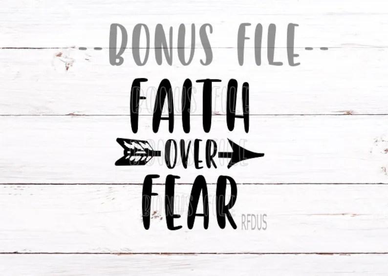 Download SALE faith over fear svg arrow svg cricut cutting faith   Etsy
