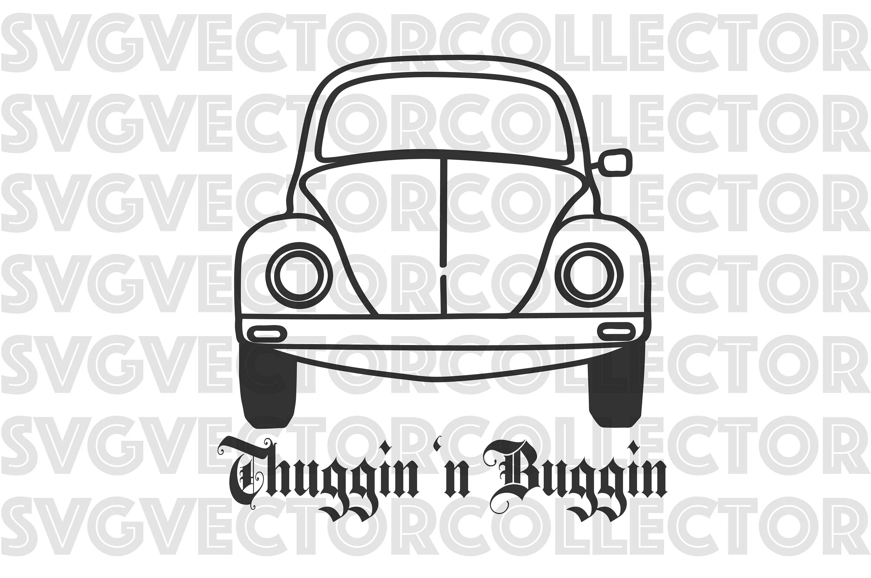 Volkswagen Vw Beetle Thuggin N Buggin Svg Dxf Eps