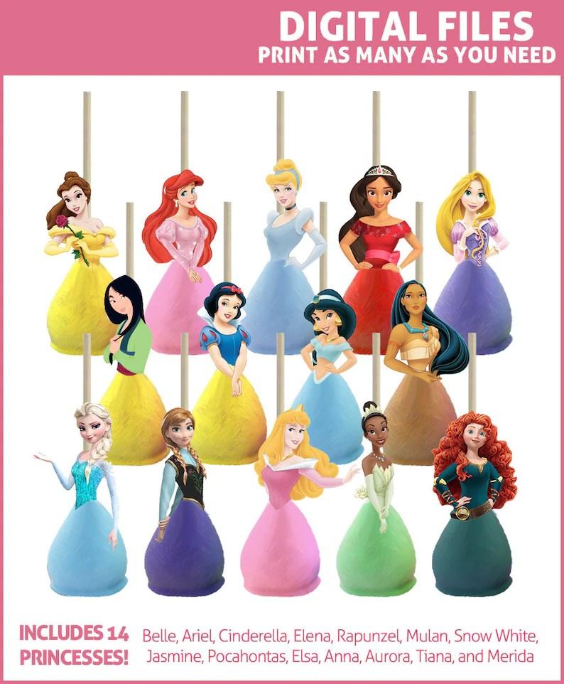 disney princess cake pop