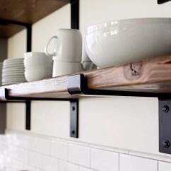 Kitchen Shelf Brackets Cabinet Etsy Handcrafted Heavy Duty Steel Bracket With Lip Modern Open Shelving Powder Coated 2 X 3 8 Flat Bar Metal