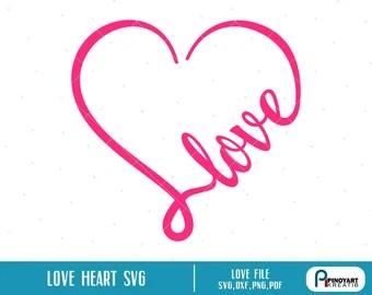Download Love pink svg file | Etsy
