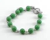 Spearmint Green Beaded Bracelet