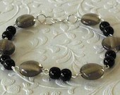 Black Ice Beaded Bracelet