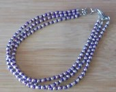 3 Strand Purple and Silve...