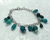 Teal Wonders Charm Bracelet, Gifts for Her, Gifts for Mom