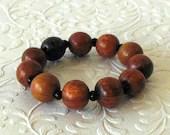 Wood Bead Stretch Bracele...