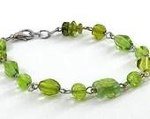 Lucky Lime Green Beaded Bracelet