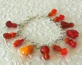 Orange Variety Glass Bead...