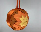 Orange and Yellow Fabric Christmas Holiday Ornament