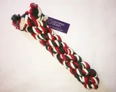 Large Dog Chew and Tug Cotton Rope Toy in Christmas Colors - Red, Green, and White