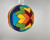 Rainbow Fabric Christmas Holiday Ornament