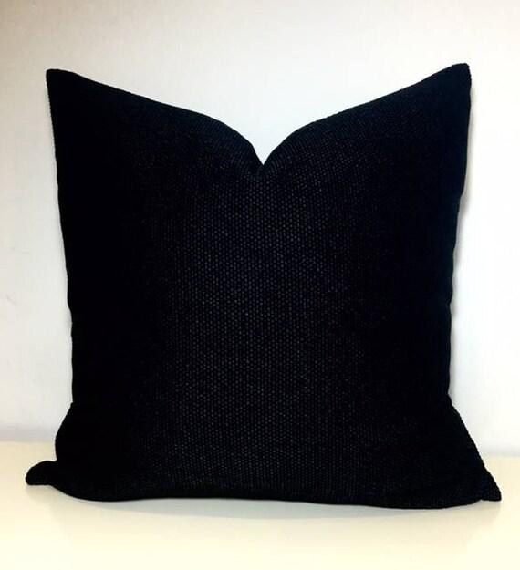 black boho pillow cover black pillows rustic pillow chenille pillow decorative throw pillow cushion case black chenille pillow covers