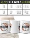11 Oz 15 Oz Full Wrap Mug Mockup Blanks Coffee Cup Mockup Etsy