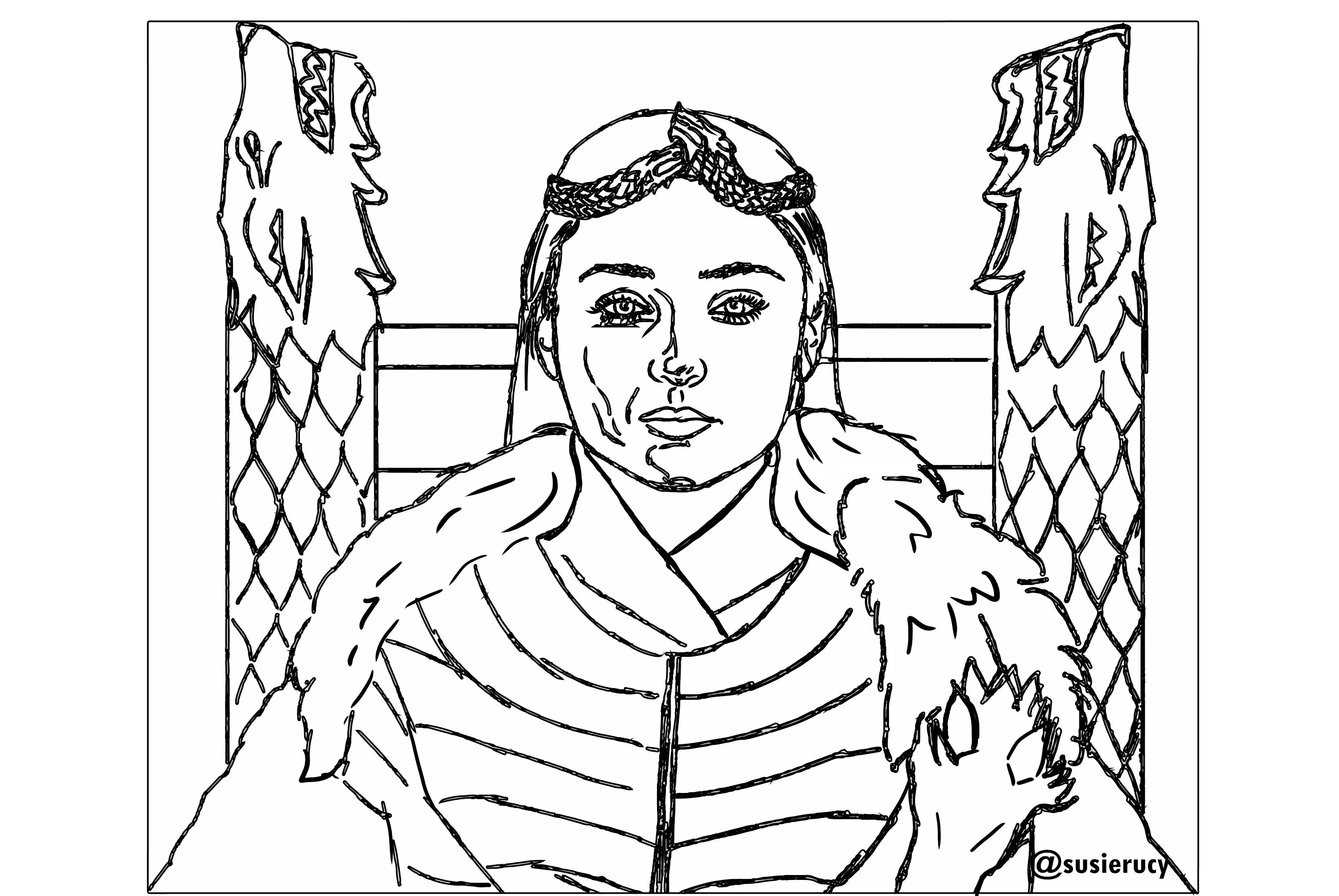 Game Of Thrones Coloring Pages For Adults