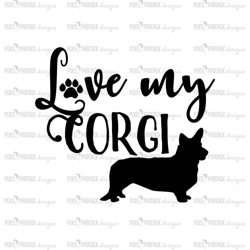 Download Love my Corgi Corgi svg Welsh Corgi svg svg for Cricut | Etsy
