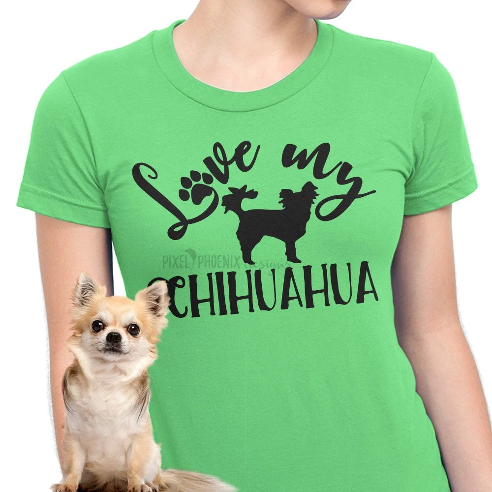 Download Love my Chihuahua Chihuahua SVG svg for Cricut vinyl | Etsy