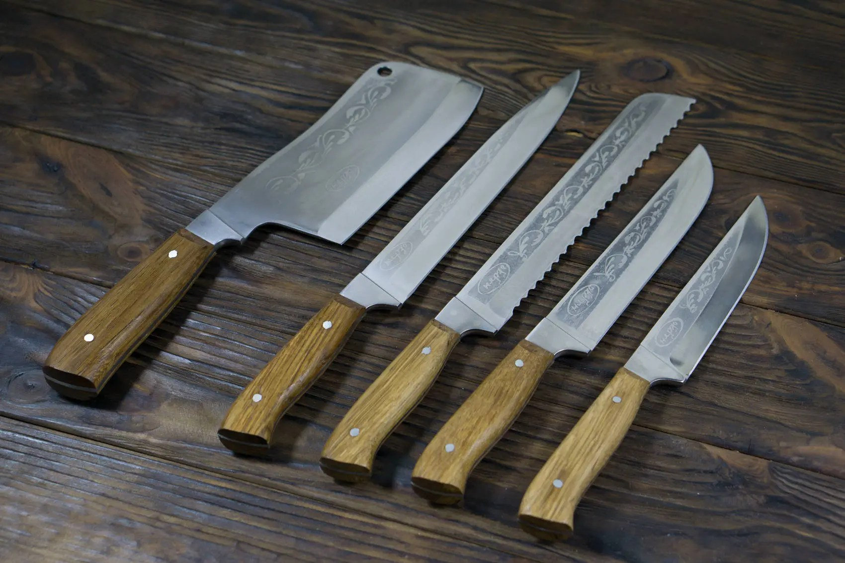 professional kitchen knives commercial door knife set engraved chef etsy image 0