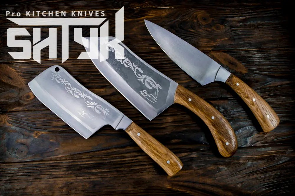professional kitchen knives cabinets with legs knife set engraved chef etsy image 0